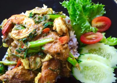 Fried Red Curry Seafood