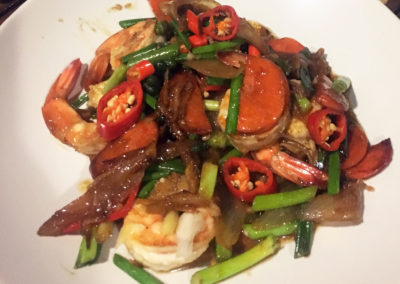 Stir Fry Prawn With Ginger Sauce