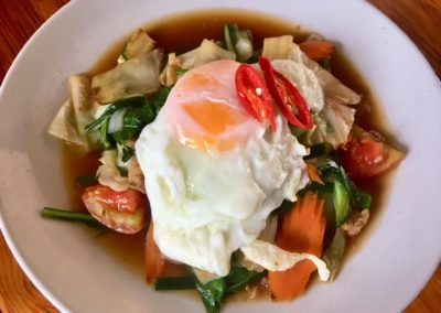 Stir Fry Vegetable Fried Egg