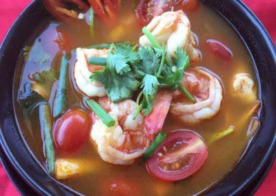 Tom Yam Goon Shrimp